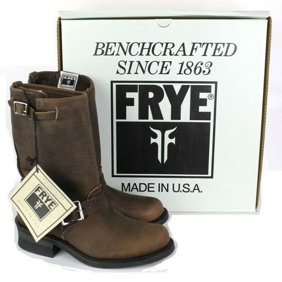 0dd9de57f570a Frye Brown Gaucho Engineer Boots Size 7M NEW $328 NWT